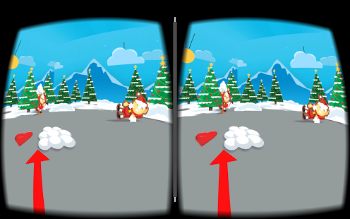 Rolling gumballs sleighs powered by rockets and google cardboard