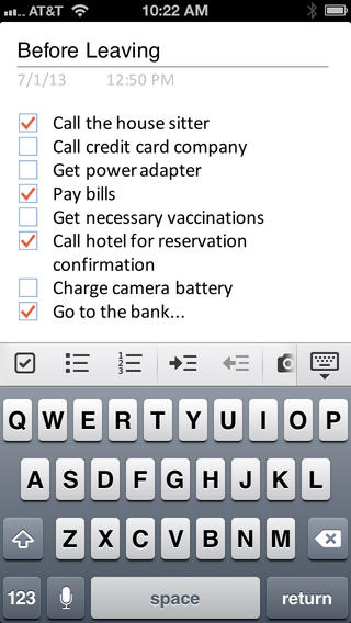 Microsoft OneNote for iPhone (1)