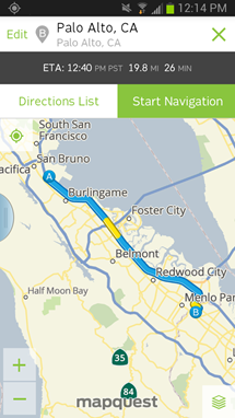 mapquest app for android
